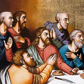 Icona Ultima Cena cattolica 50x70 cm Romania s4