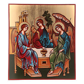 Rumanian hand-painted icons: Holy Trinity icon 40x45cm, Romania