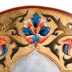 Icône vierge de Ferruzzi avec décors 40x60 cm s4