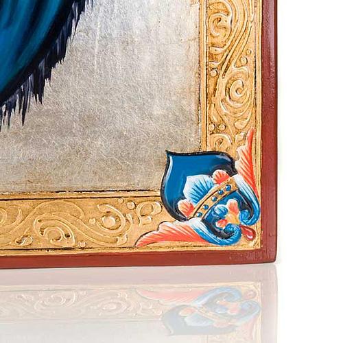 Icône vierge de Ferruzzi avec décors 40x60 cm 3
