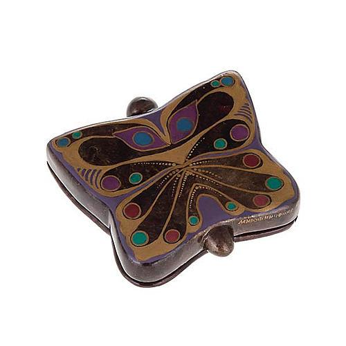 Scatola lacca russa a farfalla