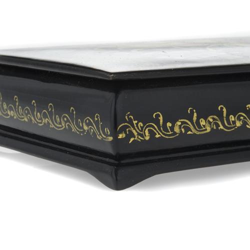 Russian lacquer box in papier-mâché