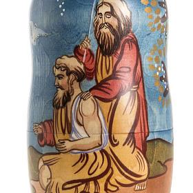 Matriosca russa Natività e 4 scene vita Gesù s3