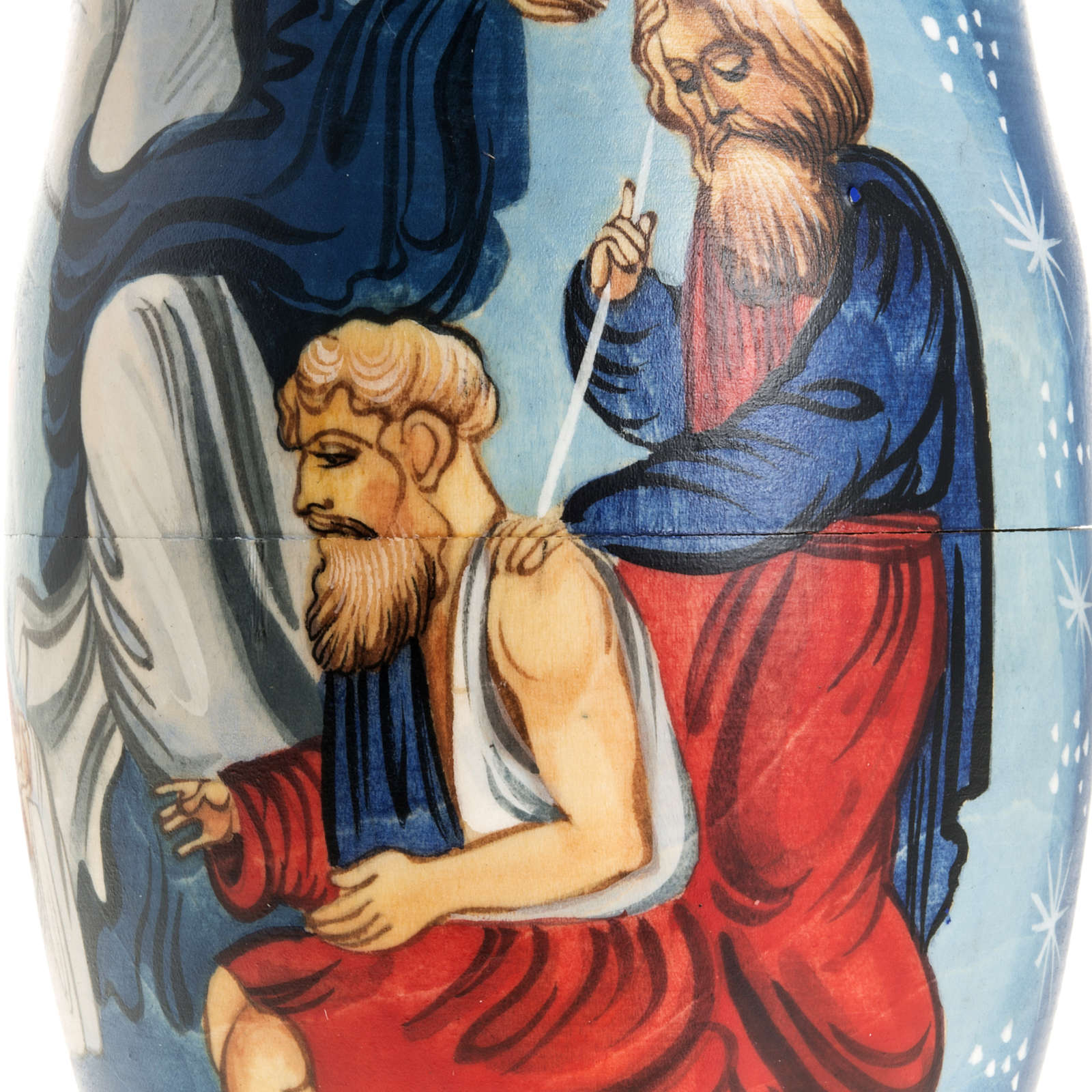 Matryoshka natività con angelo e 4 scene 4