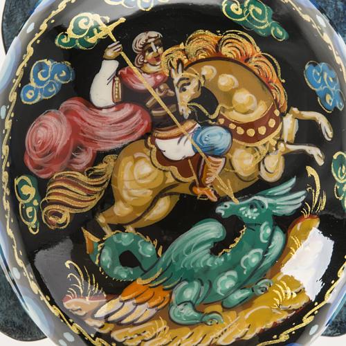 Scatola lacca tartaruga blu San Giorgio Kholuy 2