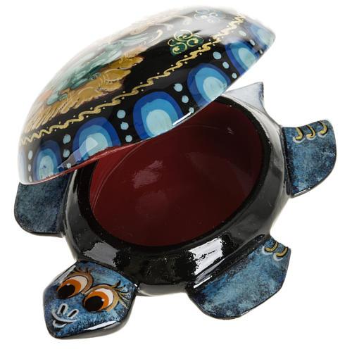 Scatola lacca tartaruga blu San Giorgio Kholuy 3