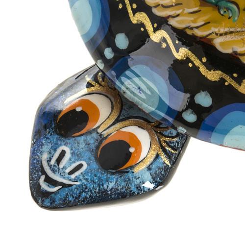 Scatola lacca tartaruga blu San Giorgio Kholuy 6