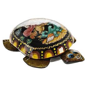 Scatola lacca tartaruga gialla San Giorgio Kholuy s4