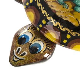 Scatola lacca tartaruga gialla San Giorgio Kholuy s5