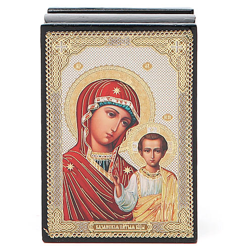 Boîte russe papier mâché Kazanskaya 4