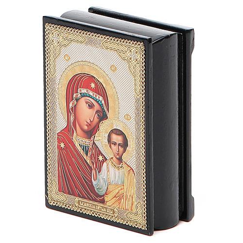 Boîte russe papier mâché Kazanskaya 5