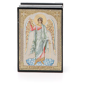 Russian lacquer boxes: Box enamel Russia Guardian Angel