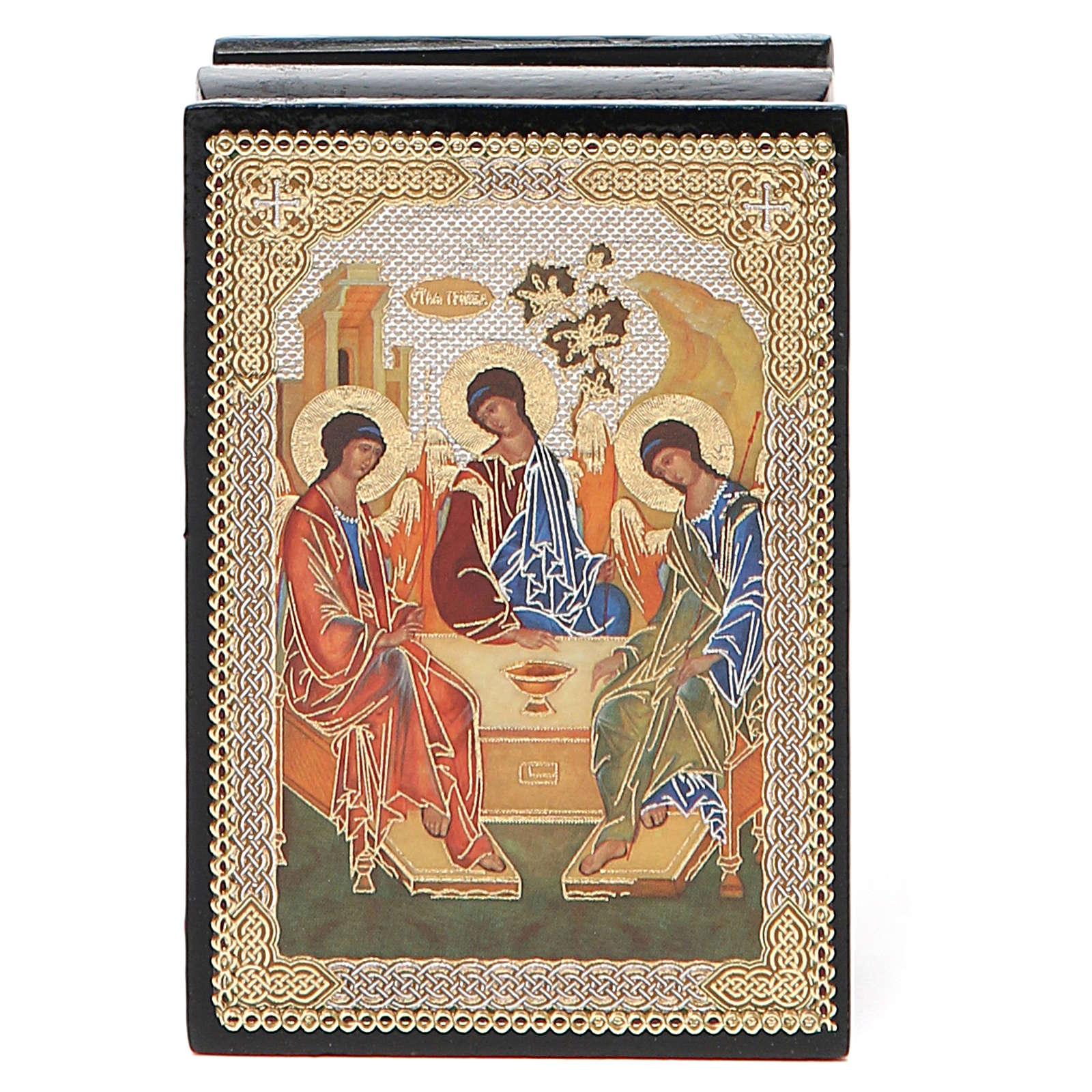 Box enamel Russia Rublev Trinity 4