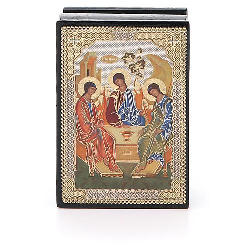 Box enamel Russia Rublev Trinity 1