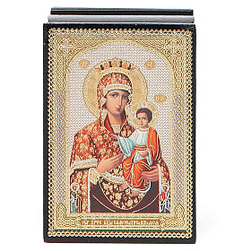 Box enamel Russia Self-painted Madonna s4