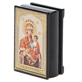 Box enamel Russia Self-painted Madonna s5
