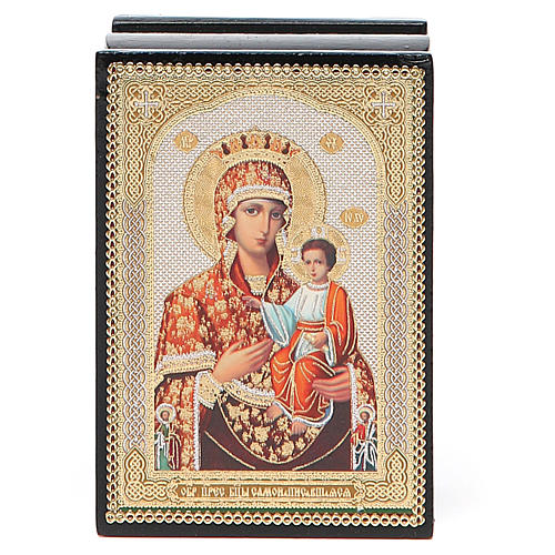Box enamel Russia Self-painted Madonna 4