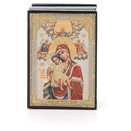 Box enamel Russia Our Lady of Perpetual Help 1