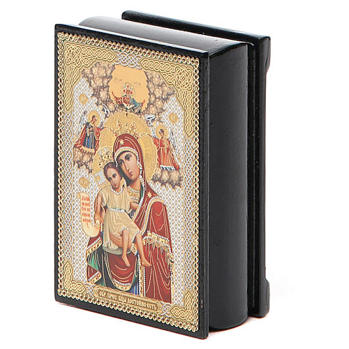 Box enamel Russia Our Lady of Perpetual Help 5