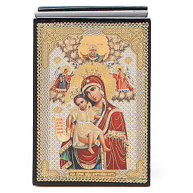 Box enamel Russia Our Lady of Perpetual Help s4