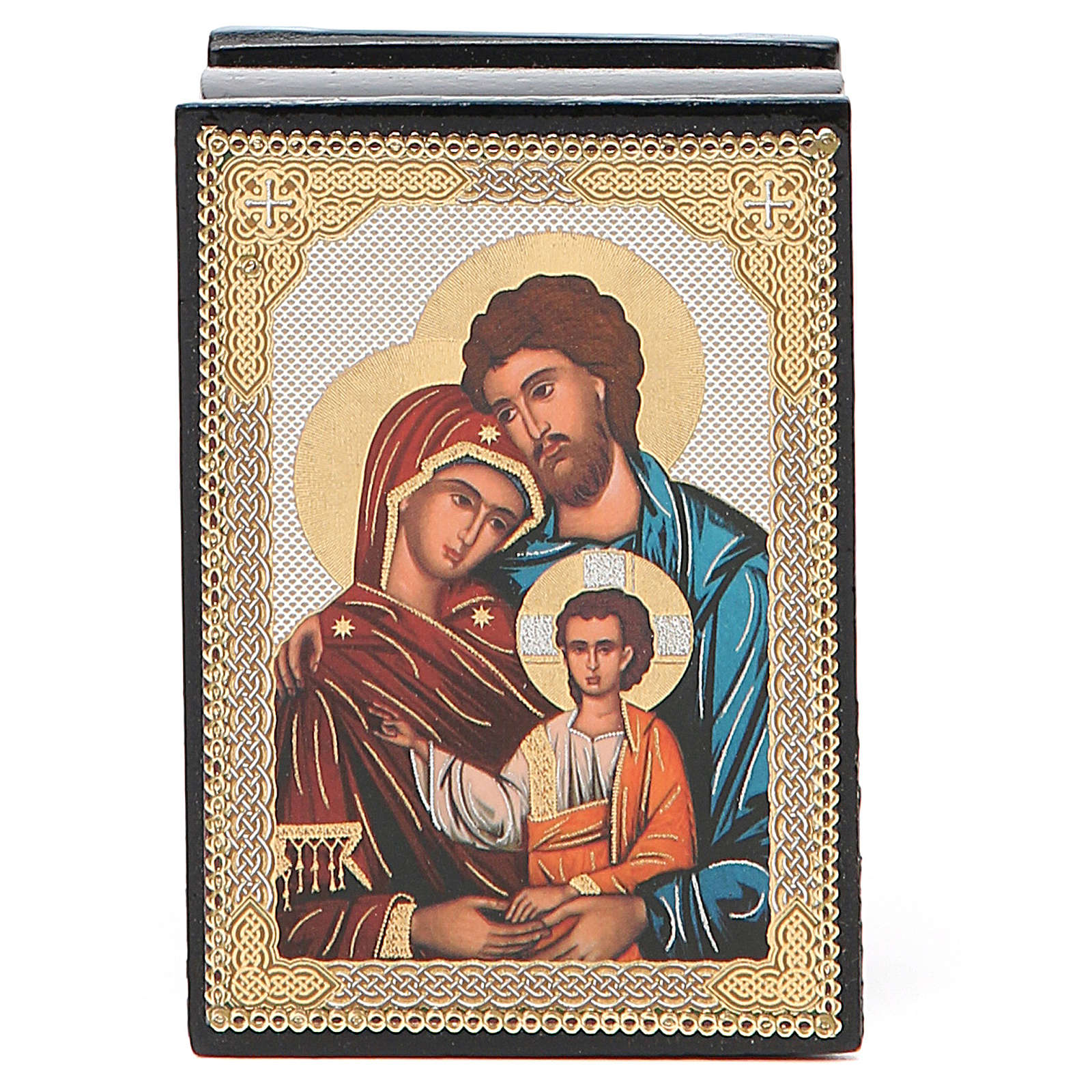 Box enamel Russia Holy Family 4