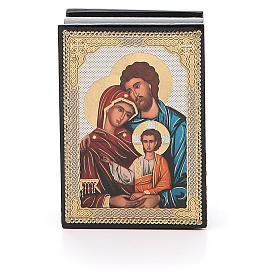Box enamel Russia Holy Family s1