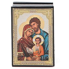 Box enamel Russia Holy Family s4