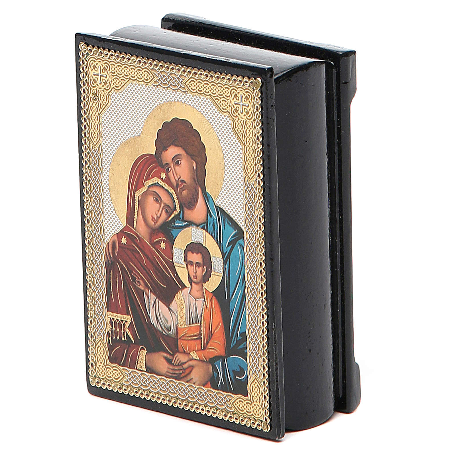 Box enamel Russia Holy Family 4