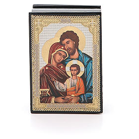 Russian lacquer boxes: Box enamel Russia Holy Family