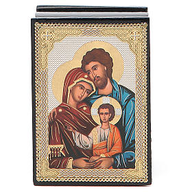 Box enamel Russia Holy Family s4
