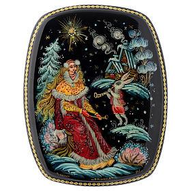 Scatola lacca Russia Vassilisa e coniglio magico Choluy s1
