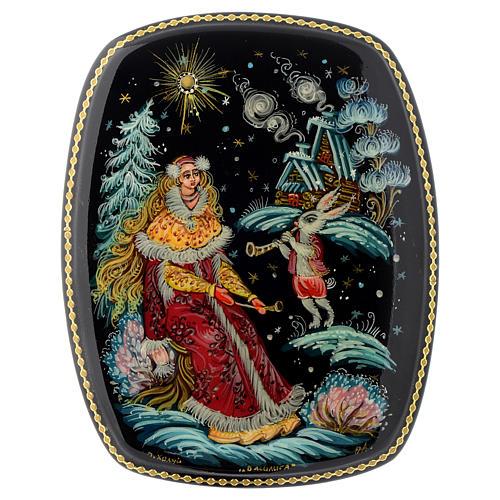 Scatola lacca Russia Vassilisa e coniglio magico Choluy 1