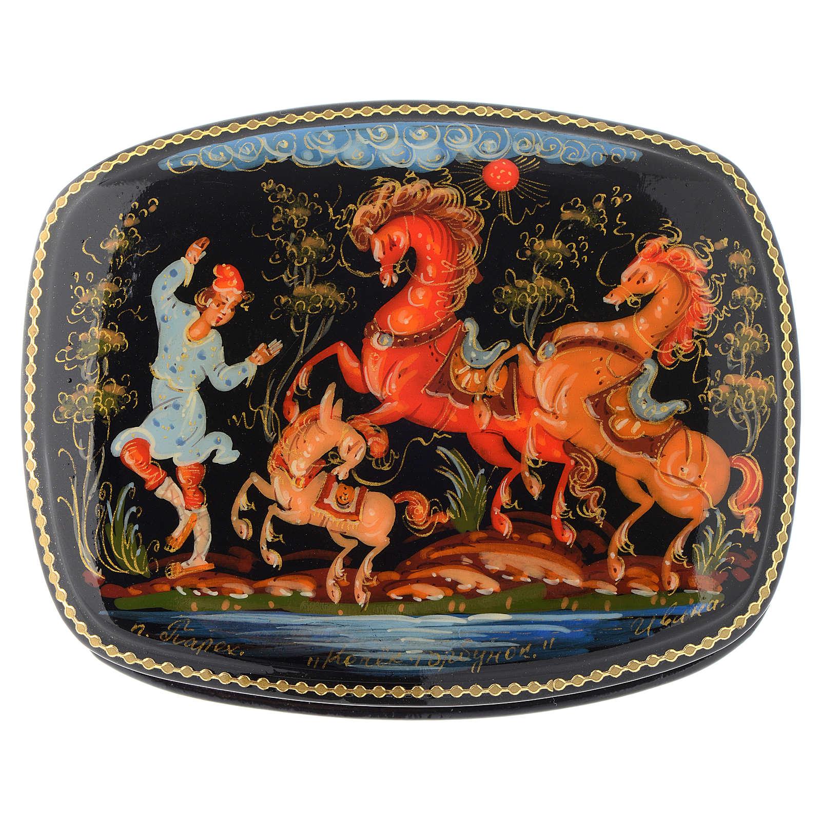 Lacca russa originale Il pony gobbo Palech 4