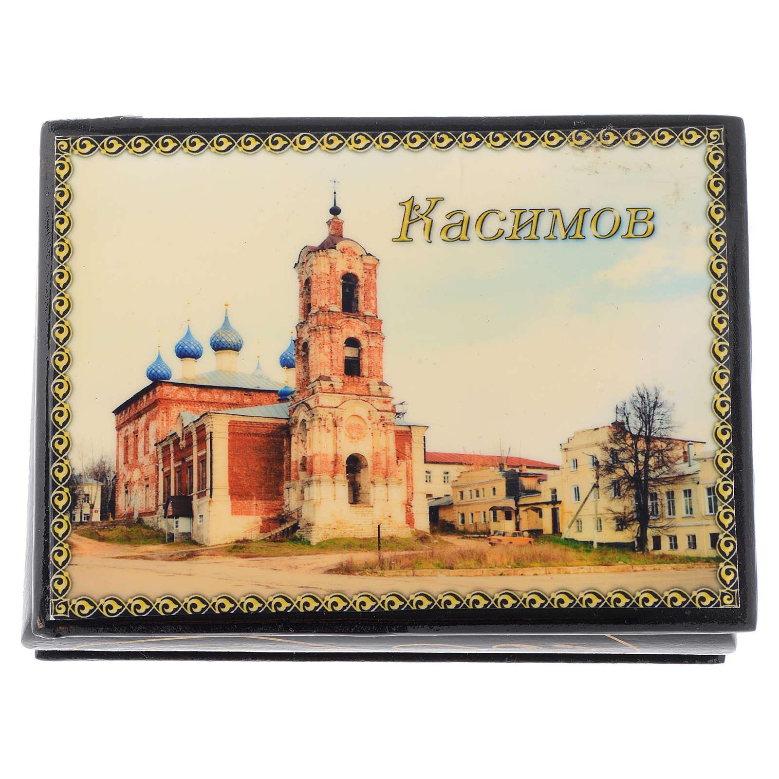 Lacca russa originale Cattedrale di Kassimov Fedoskino 4