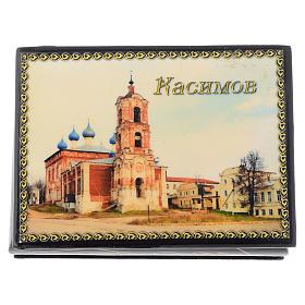 Lacca russa originale Cattedrale di Kassimov Fedoskino s1