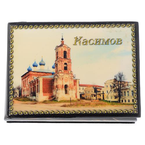 Lacca russa originale Cattedrale di Kassimov Fedoskino 1