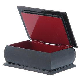 Russian lacquer box Christ Pantocrator 7X5 cm s3