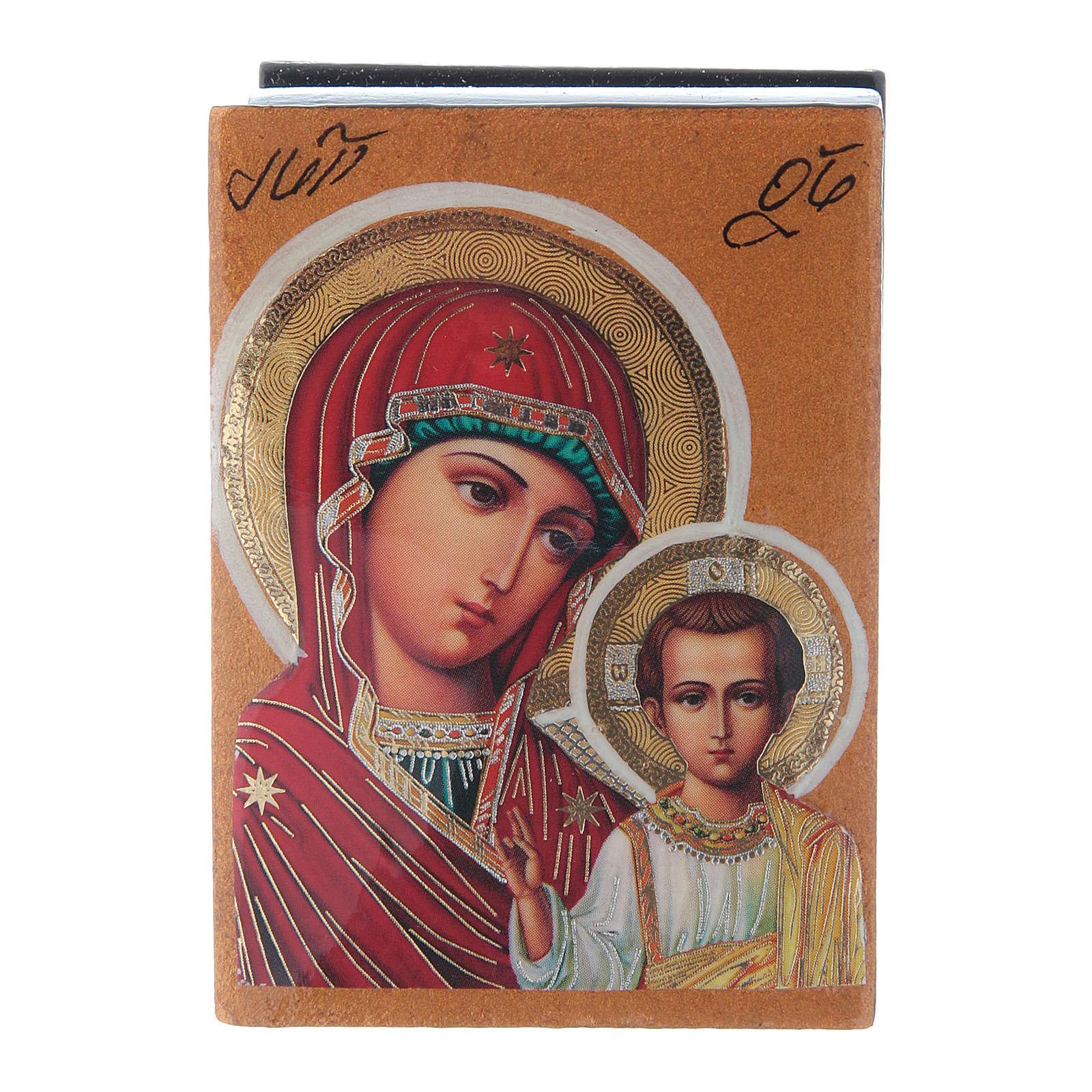 Decoupage box Our Lady of Kazan 7X5 cm 4