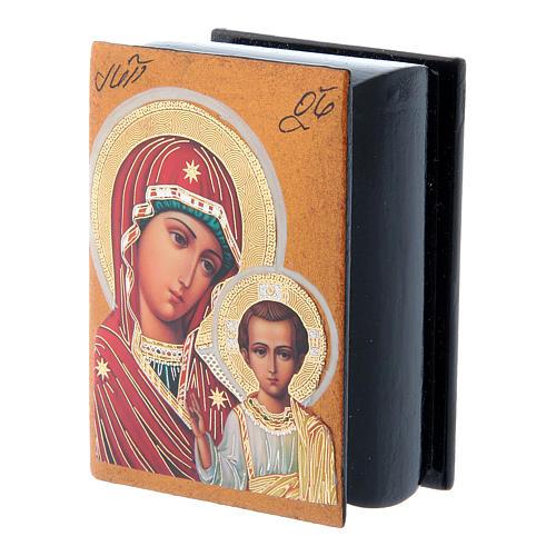 Decoupage box Our Lady of Kazan 7X5 cm 2