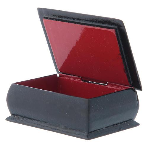 Caja rusa papel maché Virgen de la Copa Infinita 7x5 cm 3