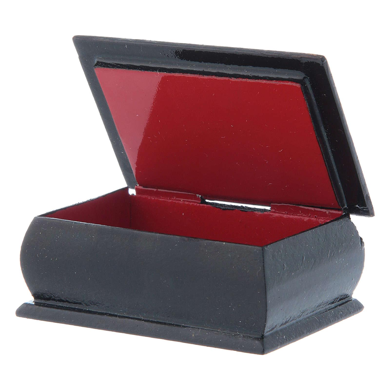 Russian decoupage box Our Lady Tikhvinskaya 7X5 cm 4
