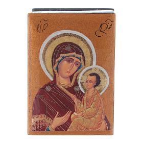 Russian decoupage box Our Lady Tikhvinskaya 7X5 cm s1