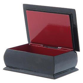 Russian papier-machè box Our Lady stop my sadness 7X5 cm s3