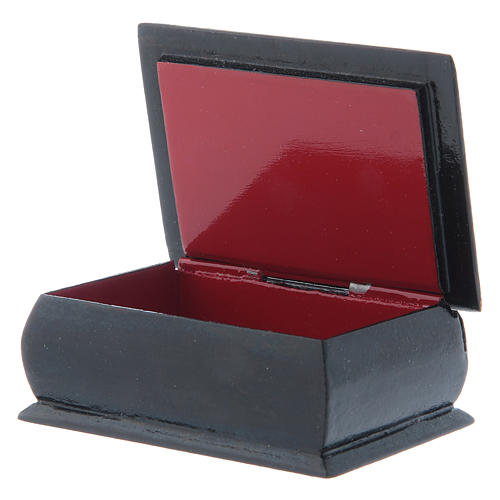 Russian papier-machè box Our Lady stop my sadness 7X5 cm 3