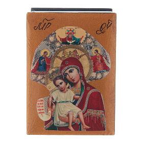 Scatola laccata russa Madonna del Perpetuo Soccorso 7X5 cm s1