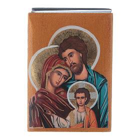 Scatola cartapesta russa Sacra Famiglia 7X5 cm s1