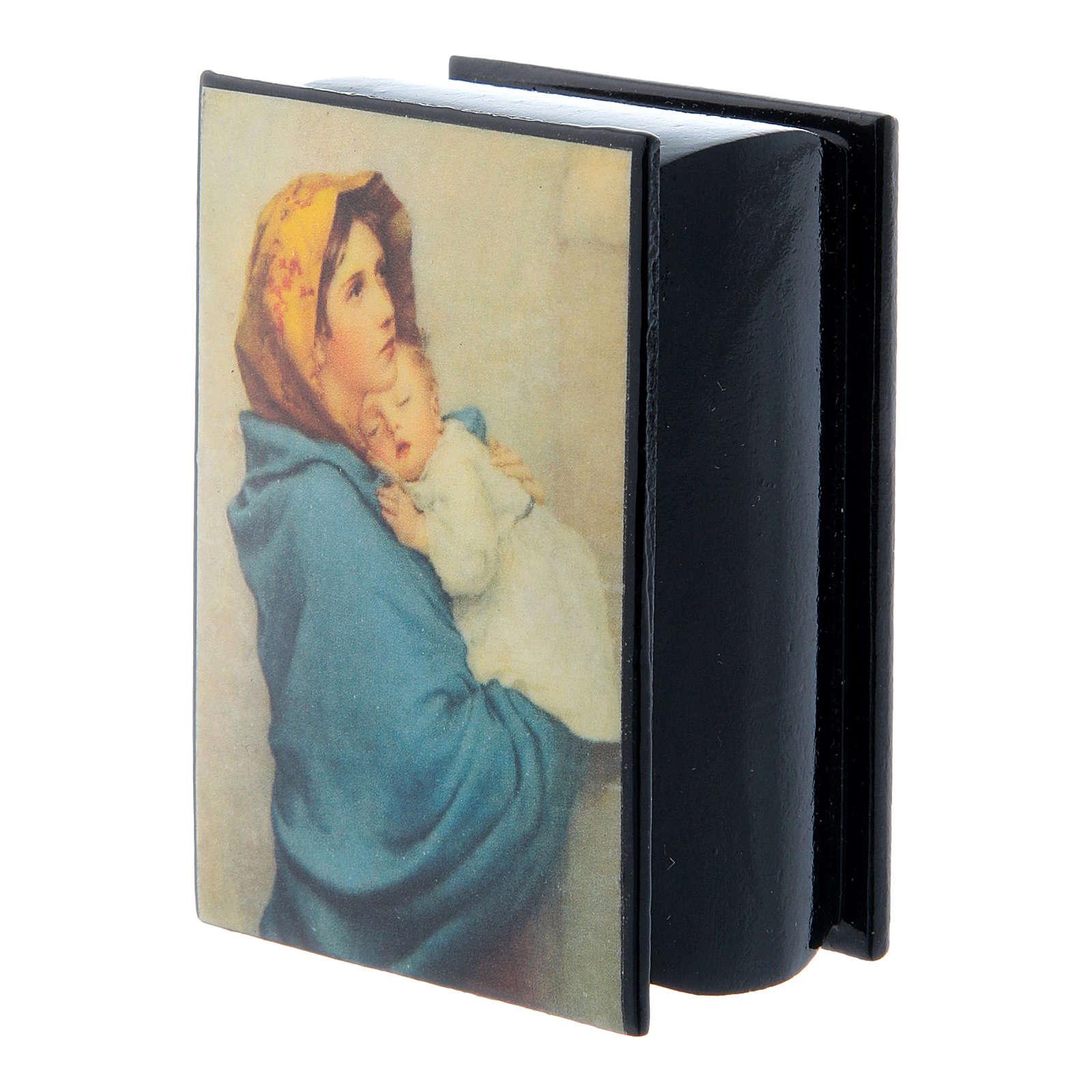 Lacca cartapesta russa La Madonnina 7X5 cm 4
