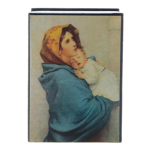 Lacca cartapesta russa La Madonnina 7X5 cm 1