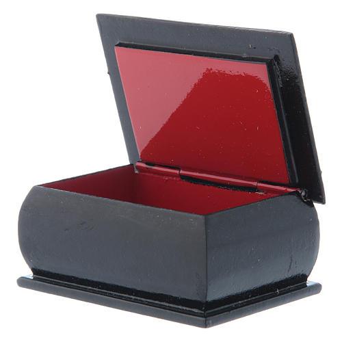 Russian papier-mâché and lacquer box Madonna del Cardellino 7x5 cm 3