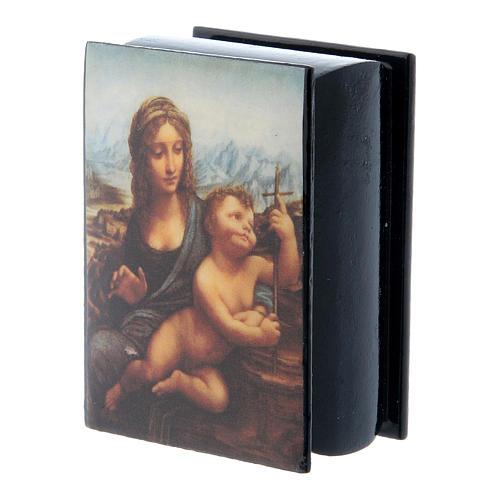 Scatola russa cartapesta La Madonna dei Fusi 7X5 cm 2